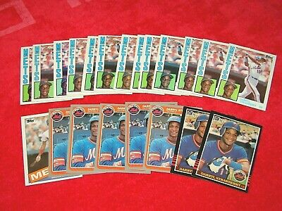 Darryl Strawberry New York Mets Rc Rookie Lot Of 21 Cards (18-25)