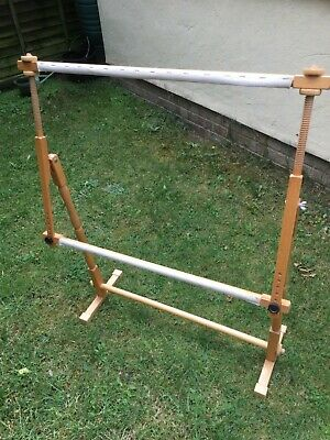 Elbesee Needlework Floor Stand with Adjustable Scroll Frame