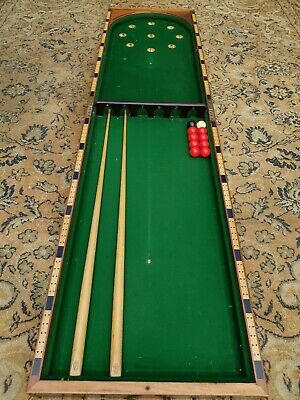 Antique Victorian E J Riley Table Top Bagatelle Folding Pub Bar Billards Game