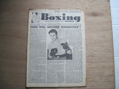 Boxing News Magazine - October 19, 1949. Vintage Issue