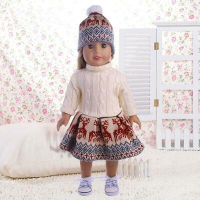 For 18 Inches  Girl Our Generation Doll Sweater Dresses Hat  Set 2019