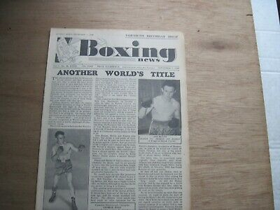Boxing News Magazine - September 7, 1949. Vintage Issue