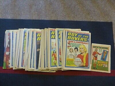 Roy of the Rovers 49 issues from 1978 Almost complete year