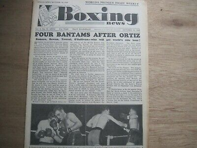 Boxing News Magazine - October 12, 1949. Vintage Issue
