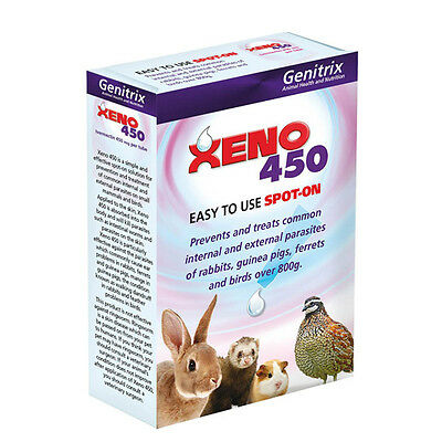 Xeno 450 Spot on Tubes  6 Pack - For Rabbits, Guinea Pigs and Ferrets