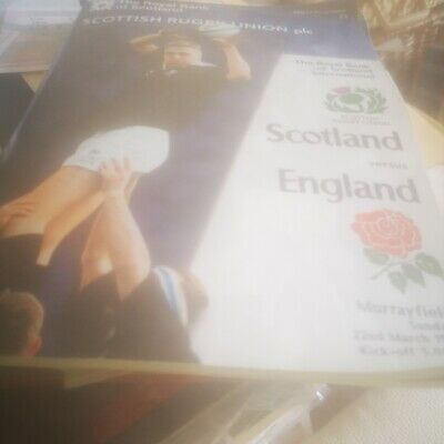 1998-Scotland V England-Triple Crown-Five Nations-International Rugby Programme