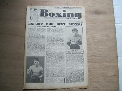Boxing News Magazine - October 5, 1949. Vintage Issue