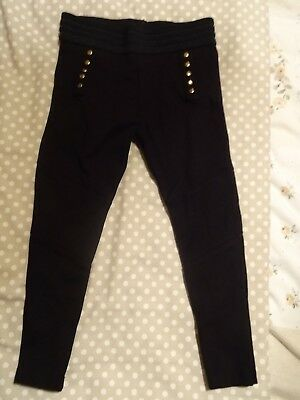 Girls Next Black Leggings Thick Stretch + Studs - 4 Years