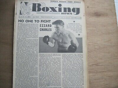 Boxing News Magazine - October 26, 1949. Vintage Issue.