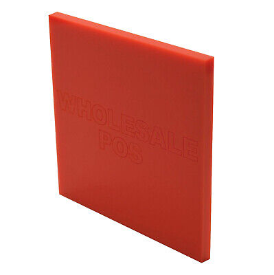 Red Perspex® Coloured Acrylic Kitchen & Bathrooms Splashbacks - 3mm Thickness