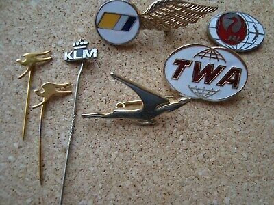 7 Vintage Airline  Pin Badges selling as single lot