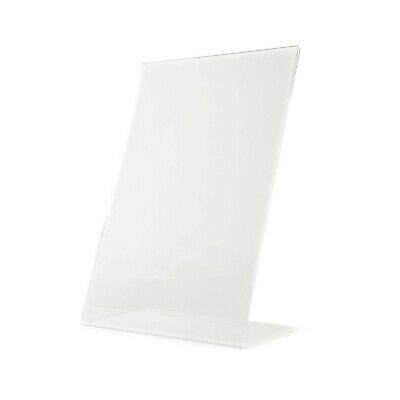 Acrylic Perspex® Counter Poster or Menu Holder Retail Shop Display 2 x A4 Stands