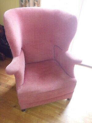 Antique wing back chair needs reupholstering