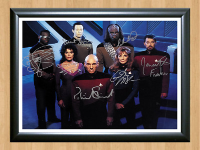Star Trek Next Generation Cast Signed Autographed A4 Photo TV Memorabilia dvd cd