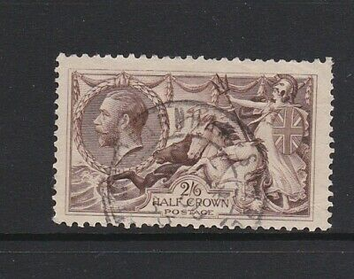 NICE KING GEORGE V HALF CROWN SEAHORSE 1918-30 SG 413a USED