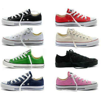 Authentic Classic Athletic Sneakers Low High Top Casual Canvas Shoes Womens Mens