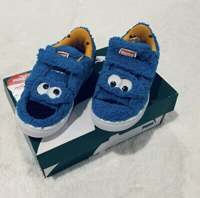 Puma Kids Cookie Monster Sesame Street Shoes 11.5 Boys Girls Unisex Slip On