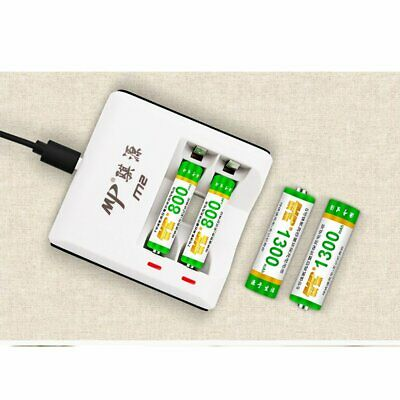 2 Slots Battery Smart Charger for AA / AAA Ni-Mh/Ni-Cd batteries LED Indicators