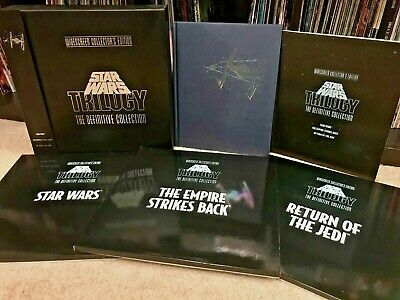 Star Wars Trilogy The Definitive LaserDisc Collection Complete w/Book 1st Press!