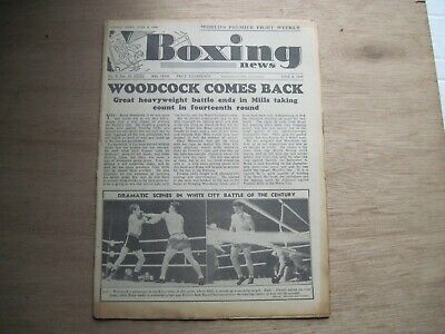Boxing News Magazine - June 8, 1949. Vintage Issue