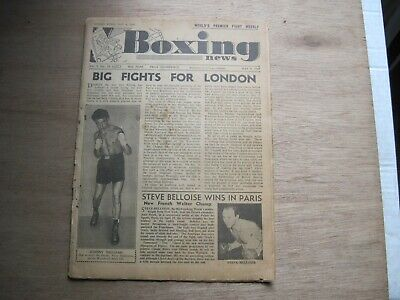 Boxing News Magazine - May 4, 1949. Vintage Issue