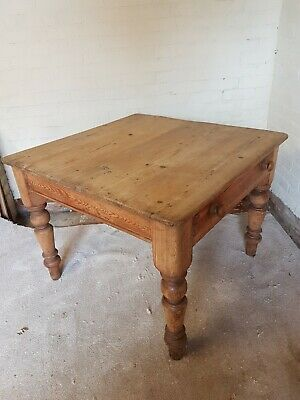 antique pine scrub top table