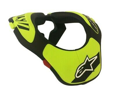 Alpinestars Youth Off Road Motorcycle MX Go Kart Neck Support - Black/Yellow