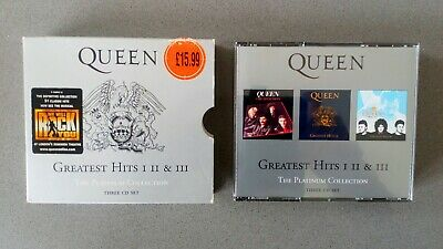Queen Platinum Collection 3CD Box Set Greatest Hits 1 2 AND 3 Fatbox