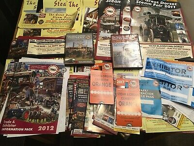 Great Dorset Steam Fair posters, passes, DVD's and publicity material