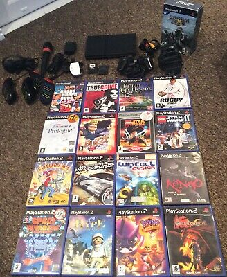 SONY PlayStation 2 Slim Console Bundle With Controller +16 x Games Bundle+ MORE