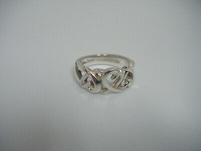 Tiffany & Co Sterling Silver Paloma Picasso Open Loving Heart Ring Band Size 6