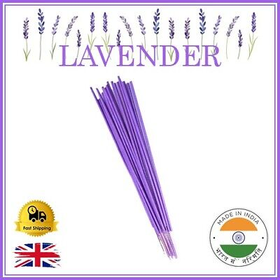 ❤️ LAVENDER Incense Sticks HANDMADE INDIAN SMELL burn Fragrance TOP Quality UK