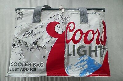 Coors Light The Silver Bullet Insulated Cooler Bag-36 Pack-12 oz.cans, FREE S&H!