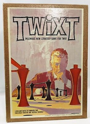 Vintage 1962 TWIXT Game 3M Bookshelf Complete Tactical Strategy Game Vtg