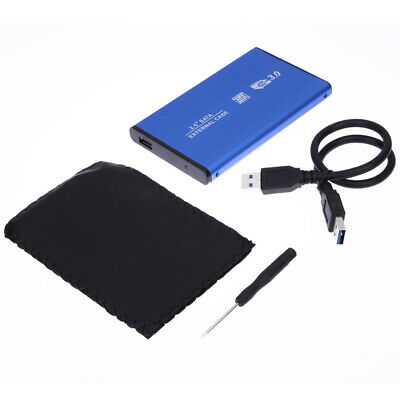 2.5'' HDD SATA USB External Hard Drive Enclosure Caddy Aluminium Case UK