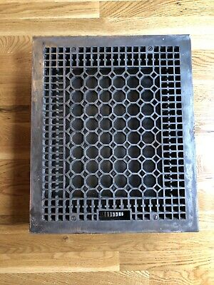 Antique cast iron floor register with louvers Dimension outside 18 1/4 X 22 1/4
