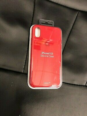 Genuine Original Hard Silicone Case Cover Apple iPhone XS Product Red MRWC2ZM/A