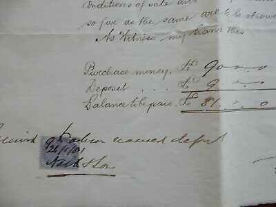 1881 handwritten real estate auction contract.
