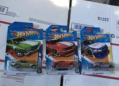 (3) Chevy Hot Wheels 1970 Chevelle SS,Camaro Indy Pace Car,Danica Impala