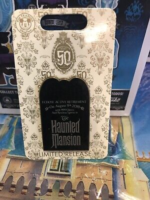 2019 Disney Parks Disneyland Haunted Mansion 50th Anniversary Day of Pin LR