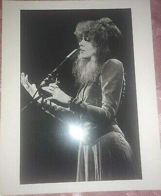Stevie Nicks Fleetwood Mac Singing Photo Neal Preston LFI Stamp London England