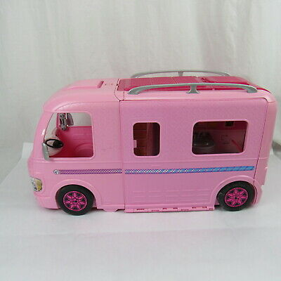 Barbie Camper RV Van Outdoor Pink Shower Kitchen Toy Vintage Big Camping