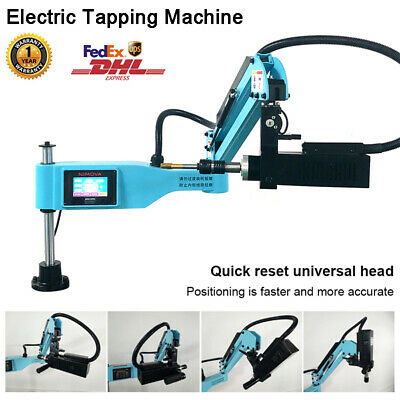 Universal 360° Electric Tapping Machine Flexible Arm M3-M16 Chuck ISO 3 Modes