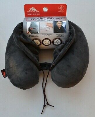 High Sierra Memory Foam Hoodie Travel Pillow Soft Neck Support Sleep Flight Nap