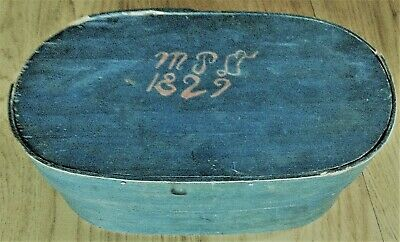 Antique Blue Green painted Shaker-Style Pantry Box MTD 1829 Antique Road Show
