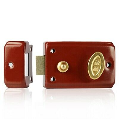 Security Door Lock Red Mechanical Lock Holding Force Compatiable With Key JA