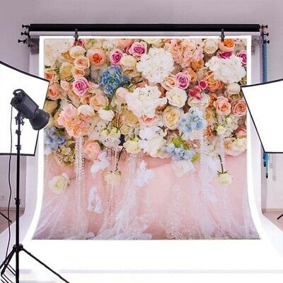 Romantic Flower Backdrop Background Photography Wedding Photo Booth Props @roots