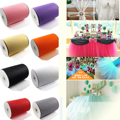 "6"" wide x 25 yards Tutu Tulle Roll Soft Netting Craft Fabric 100% Nylon Wedding"