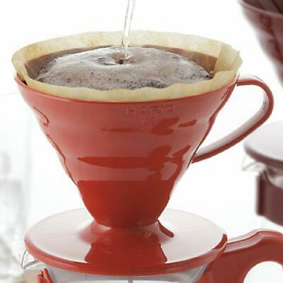 Hario V60 Transparent Coffee Dripper and Paper Filter Set Red Japan New