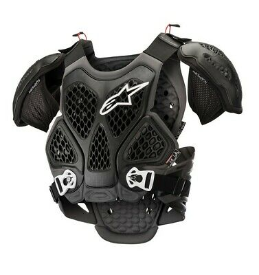 Alpinestars Bionic Off Road Motorcycle MX Chest Roost Protector  - Black/Grey